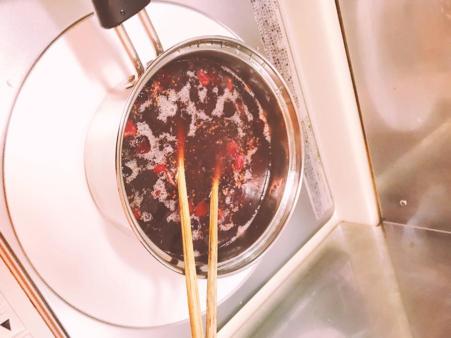 沸騰したお湯に入れて30秒混ぜる