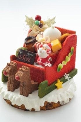 【大阪新阪急ホテル】サンタのソリケーキ ~Enjoy your Christmas!~