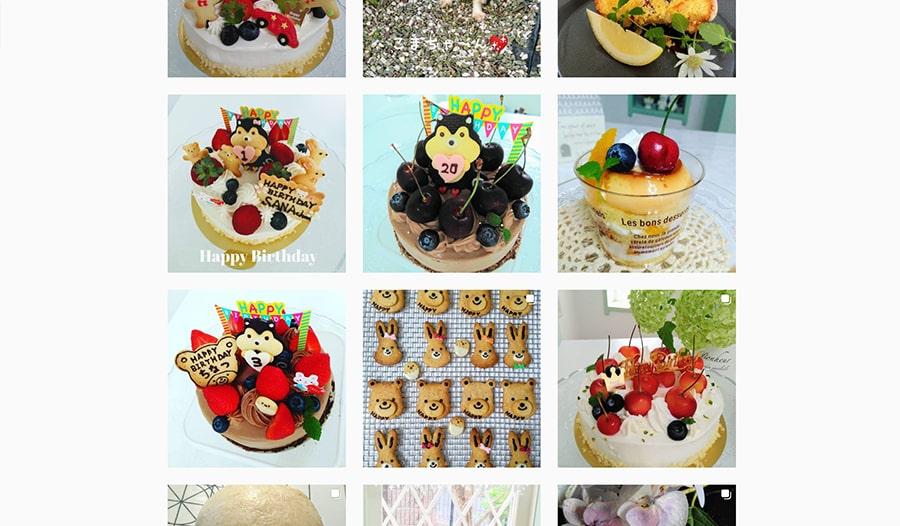 【お菓子のアトリエ パルフェ】instagram スクリーンショット