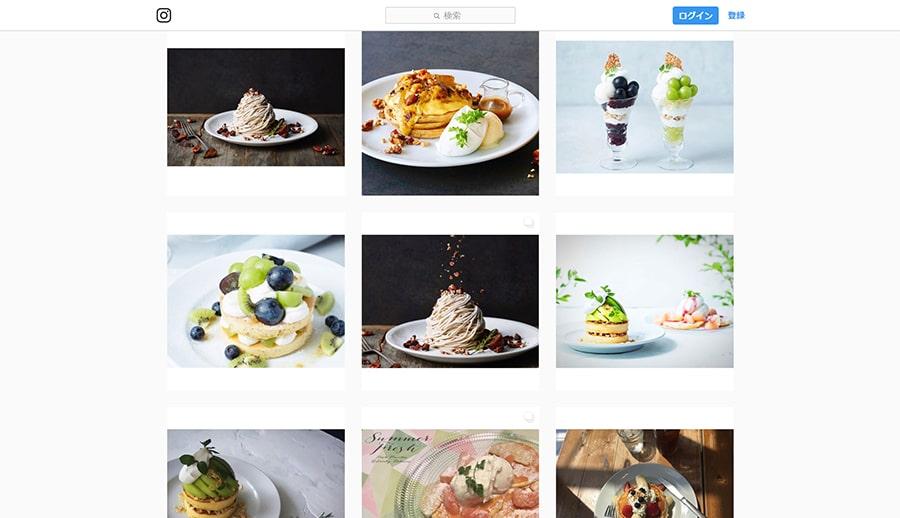 【J.S.パンケーキカフェ】Instagram スクリーンショット