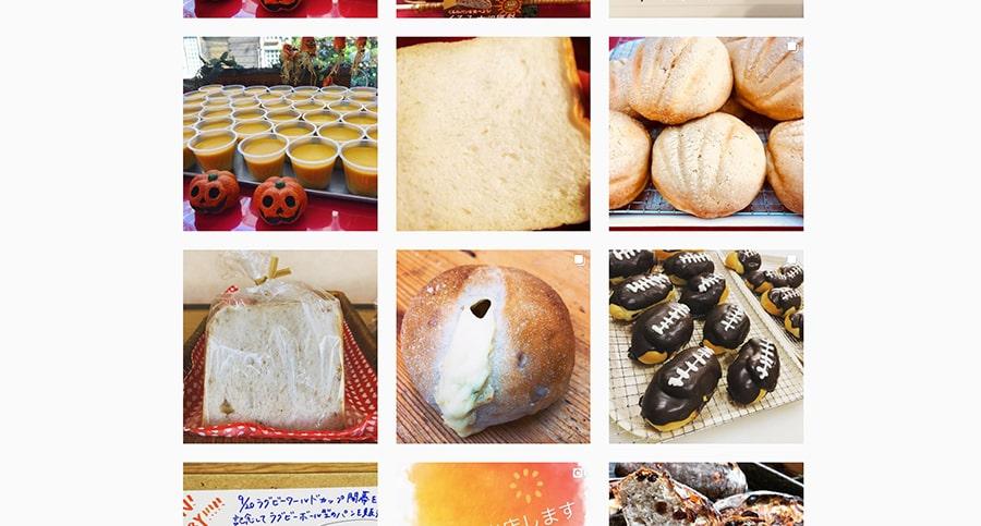 【ベーカリーモグモグ】Instagram スクリーンショット
