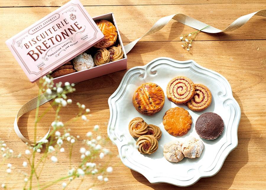 【ビスキュイテリエ ブルトンヌ】ブルターニュ クッキーアソルティ〈缶〉ボヌール